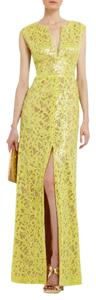 BCBGMAXAZRIA Sequin Applique Cain Evening Dress