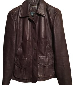 Lauren Ralph Lauren Brown Leather Jacket
