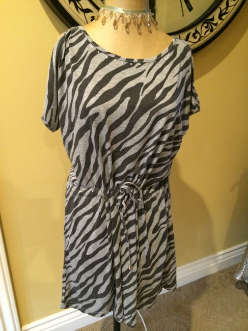 MINKPINK short dress Gray & Black Zebra on Tradesy