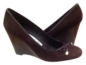 Coach Suede Wedge New Brown Wedges