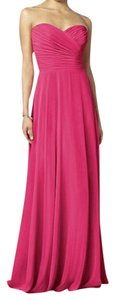 After Six Lux Chiffon Bridesmaid Long Bridesmaid Pink Dress