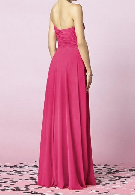 After Six Lux Chiffon Bridesmaid Long Bridesmaid Pink Dress Image 1
