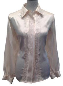 Jaclyn Smith Button Down Shirt Pearl