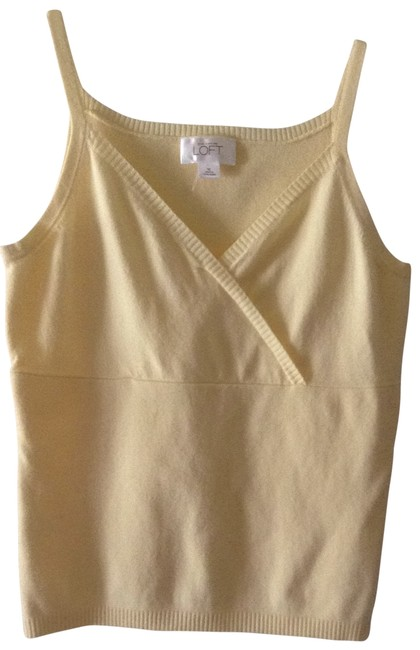 Preload https://item2.tradesy.com/images/ann-taylor-loft-yellow-crisscross-front-tank-topcami-size-8-m-196156-0-0.jpg?width=400&height=650
