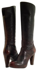 Frye Leather Knee High Boot Burnished dark brown Boots