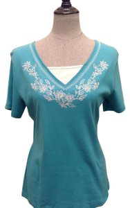 Karen Scott Top Light Blue