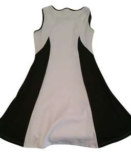 Amber Blue short dress Black and white on Tradesy