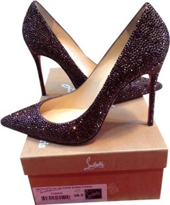 Christian Louboutin Red Bottoms Plum Rhinestone Plum/Purple Pumps