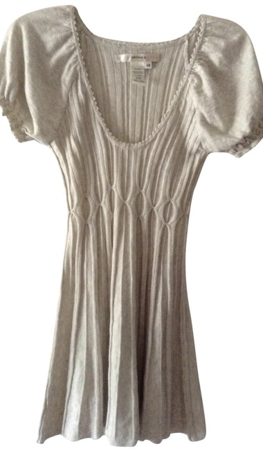 Studio M Pleated Knit With Ruffled Sleeves Tunic