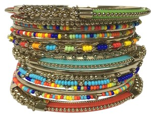 Shop One Twenty Multi Color Seed Bead Stacking Bangles