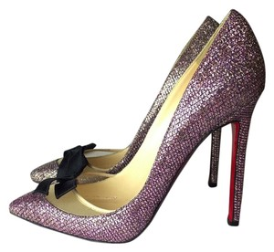 Christian Louboutin pink / gold Pumps