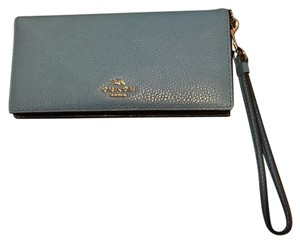 Coach Wristlet in Silver, Azure, And Navy