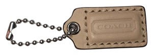 Coach COACH LEATHER HANG TAG CHARM Beige NWOT