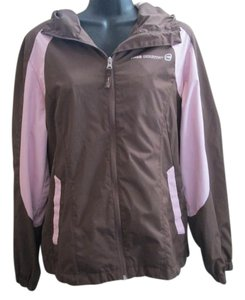 Free Country Lightweight Zip Up Fall Brown & Pink Jacket