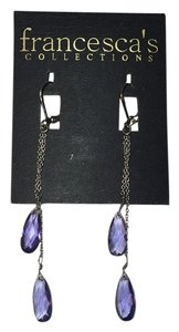 Francesca's francesca's COLLECTIONS Earings purple gems and silver NEW