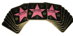 Drink Coasters; Hollywood Walk of Fame (13) [ Roxanne Anjou Closet ]