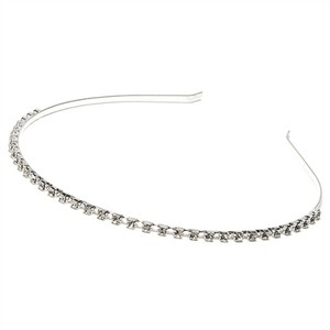 Elegant Single Row Rhinestone Wedding Bridal Headband