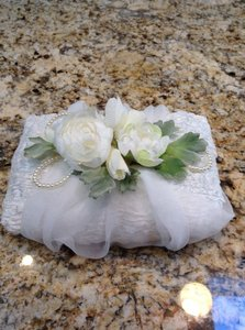Two Ivory Ring Bearer Pillows