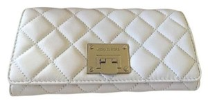 Michael Kors Michael Kors Astrid Carryall Quilted Leather Clutch Wallet Optic White 198