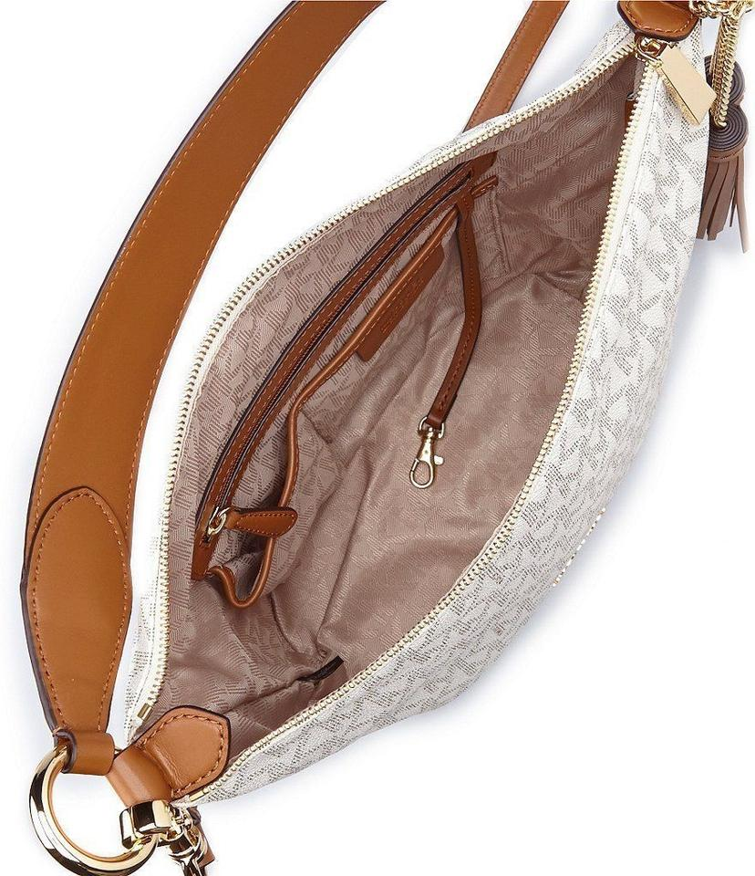 27408dce0c6a Michael Kors Signature Elana Convertible Shoulder Bag Vanilla - Tradesy