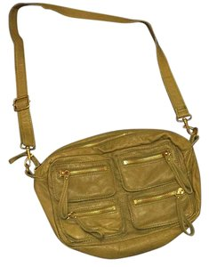 Linea Pelle Olive Cross Body Bag