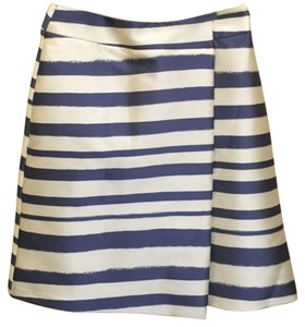 Topshop Skirt Off White, Blue