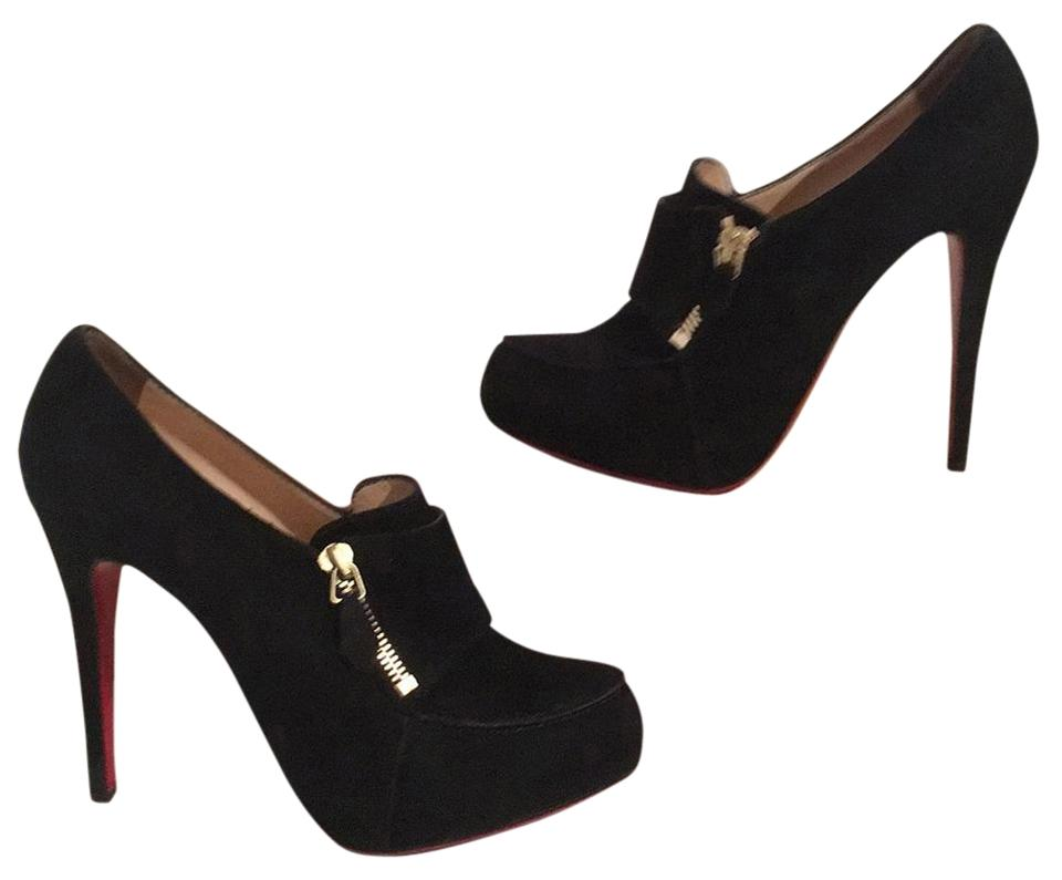 a2658da09e3 Christian Louboutin Black Loafer Lapano Suede Boots Booties Size US ...