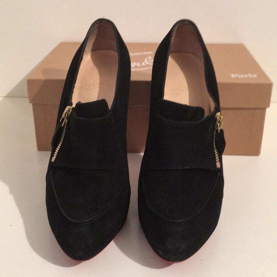 1294a940cde Christian Louboutin Black Loafer Lapano Suede Boots Booties Size US 8.5  Regular (M