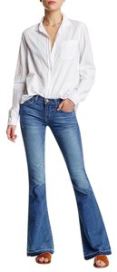 Current/Elliott Brand New With Tags Low Bell Sold Out Boot Cut Jeans-Light Wash