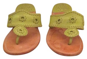 Jack Rogers Lime Green Wedges