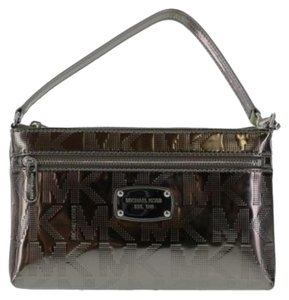 Michael Kors Satchel Wristlet in Metallic Nickle