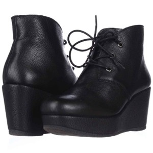 BCBGeneration Wedge Tie Up Black Boots