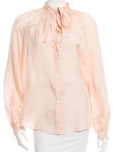Elizabeth and James Like New Button Down Shirt Blush Pink