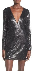 Missguided Sequin Blaxk Cute Nightout Fashion Dress