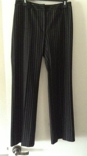 INC International Concepts Straight Pants black with white pinstripes