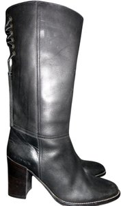 Coach Leather Knee High Black Boots