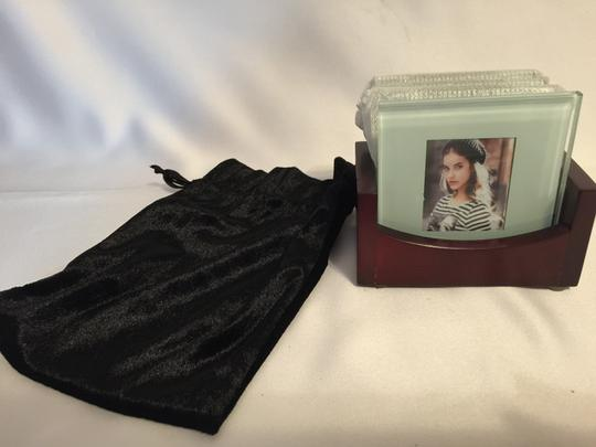 Other Photo Coasters; 4-Glass Coasters with Wood Holder [ Roxanne Anjou Closet ]