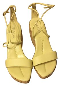 Prada Yellow Wedges
