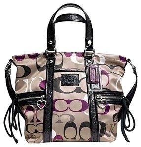 Coach Silver Lilac Tote in Multicolor Black Purple