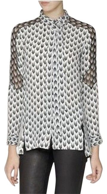 Rag & Bone Top Black & White Image 0