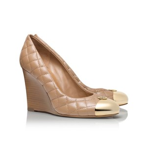 Tory Burch Clay Beige Wedges