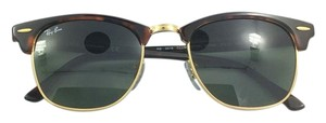 Ray-Ban Ray Ban Clubmaster. Frame Color Tortoise With Gold. UV400. Includes Case And Cloth.