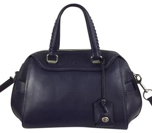 Coach Satchel in Navy Blue