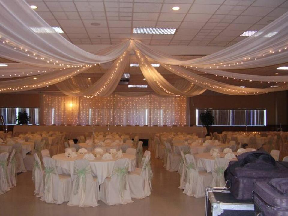 Reserved For Bethie 900 Ft Of White Tulle Reception Decoration