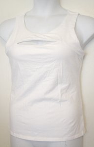 Victoria's Secret Vs Open Bust L Shelf Bra T Shirt White