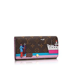 Louis Vuitton Louis Vuitton Transatlantic Christmas Animation 2016 Ltd Edition Sold Out Pink Sarah Wallet