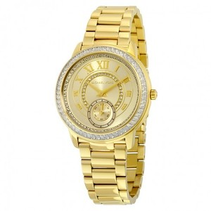 Michael Kors Madelyn Champagne Dial Gold-tone Ladies Watch MK6287