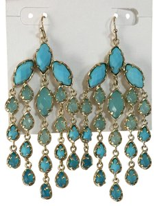 Kendra Scott Turquoise Freesia Chandelier Earrings