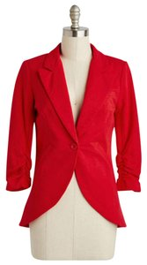 Modcloth Bright red Blazer
