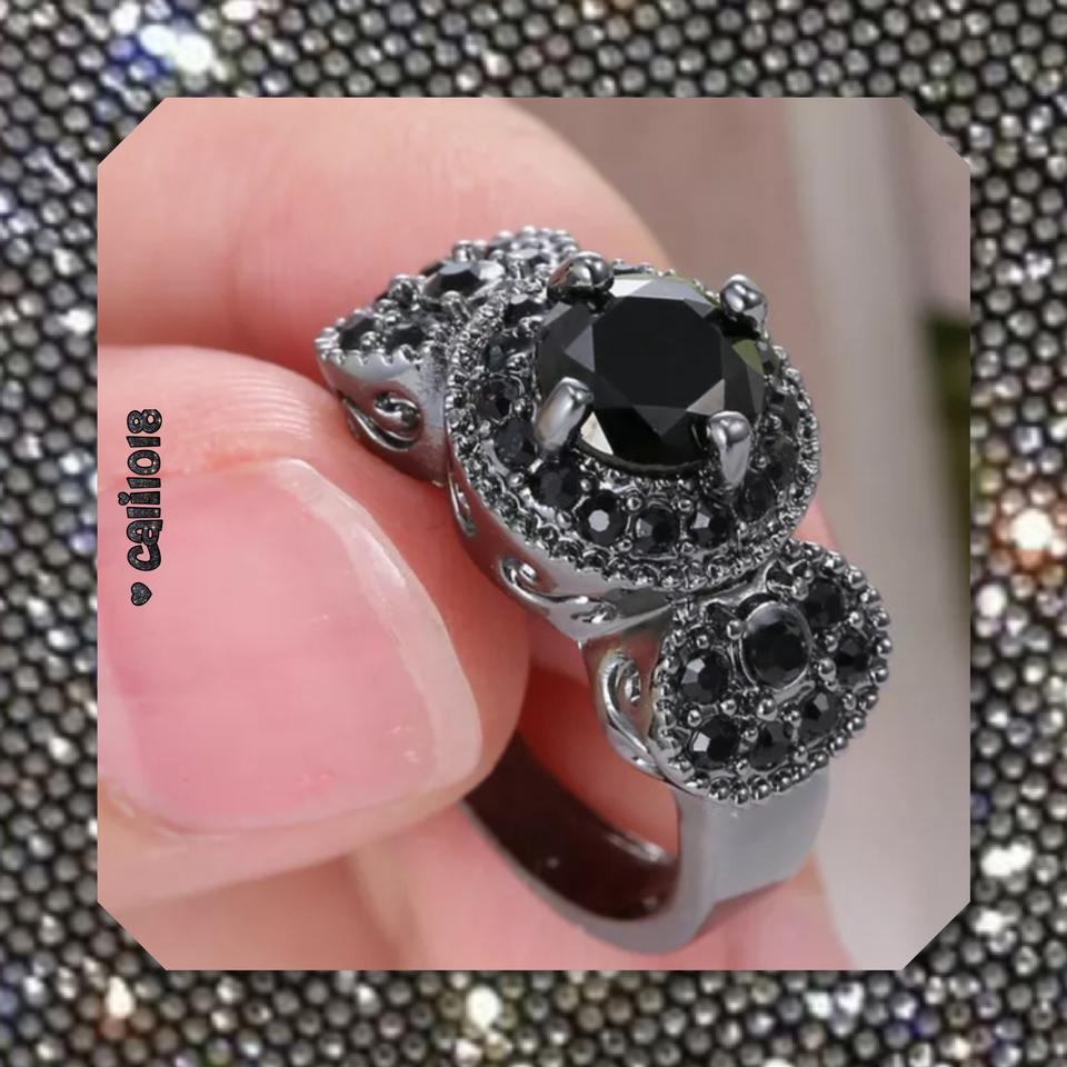 Black On Black New Lab Created Sapphire 10k Gf Ring - Tradesy